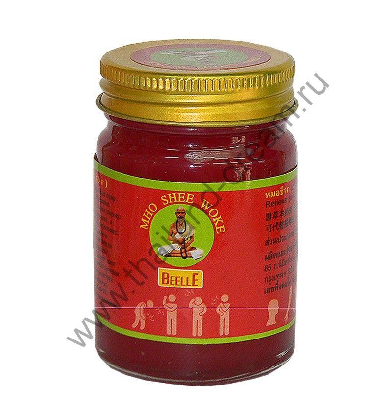 Тайский красный бальзам Mho Shee Woke, 50 гр