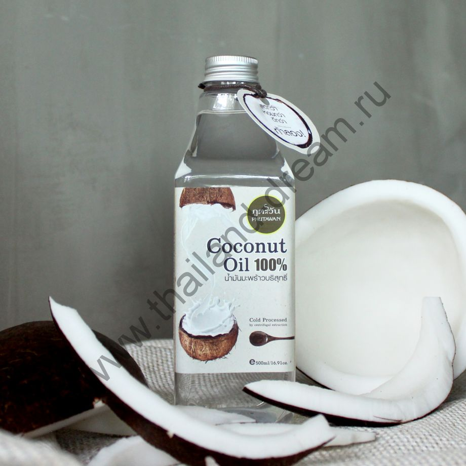 Кокосовое масло холодного отжима Phutawan 500мл